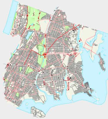 city map of New York City - Bronx