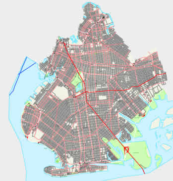 city map of New York City - Brooklyn