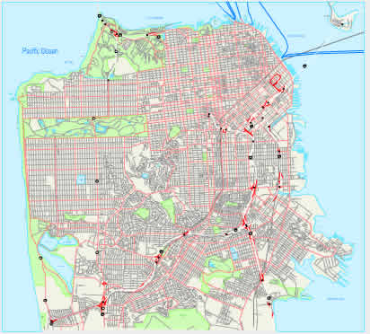 city map of San Francisco