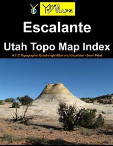 Paperback atlas: Escalante Utah Topo Map Index