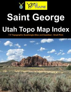 Paperback atlas: Saint George Utah Topo Map Index