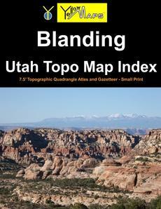 Paperback atlas: Blanding Utah Topo Map Index