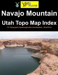 Paperback atlas: Navajo Mountain Utah Topo Map Index