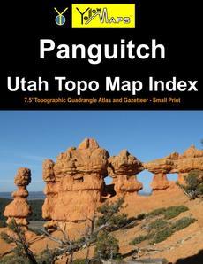 Paperback atlas: Panguitch Utah Topo Map Index