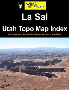 Paperback atlas: La Sal Utah Topo Map Index