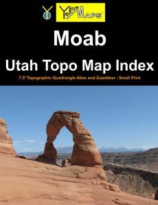 Paperback atlas: Moab Utah Topo Map Index