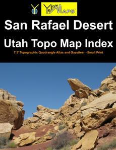 Paperback atlas: San Rafael Desert Utah Topo Map Index
