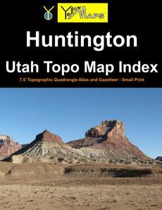 Paperback atlas: Huntington Utah Topo Map Index