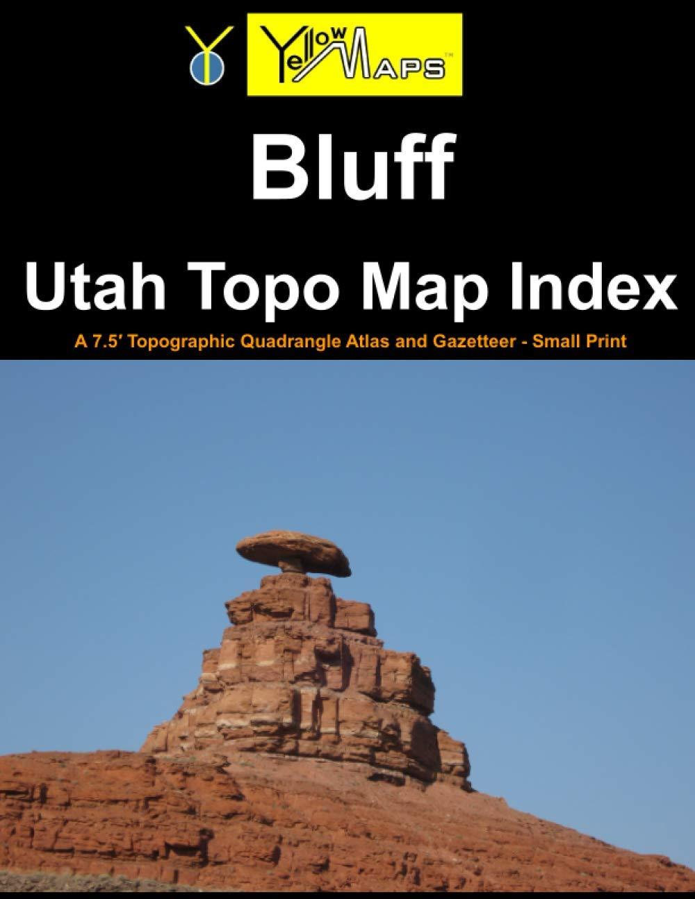 Paperback atlas: Bluff Utah Topo Map Index