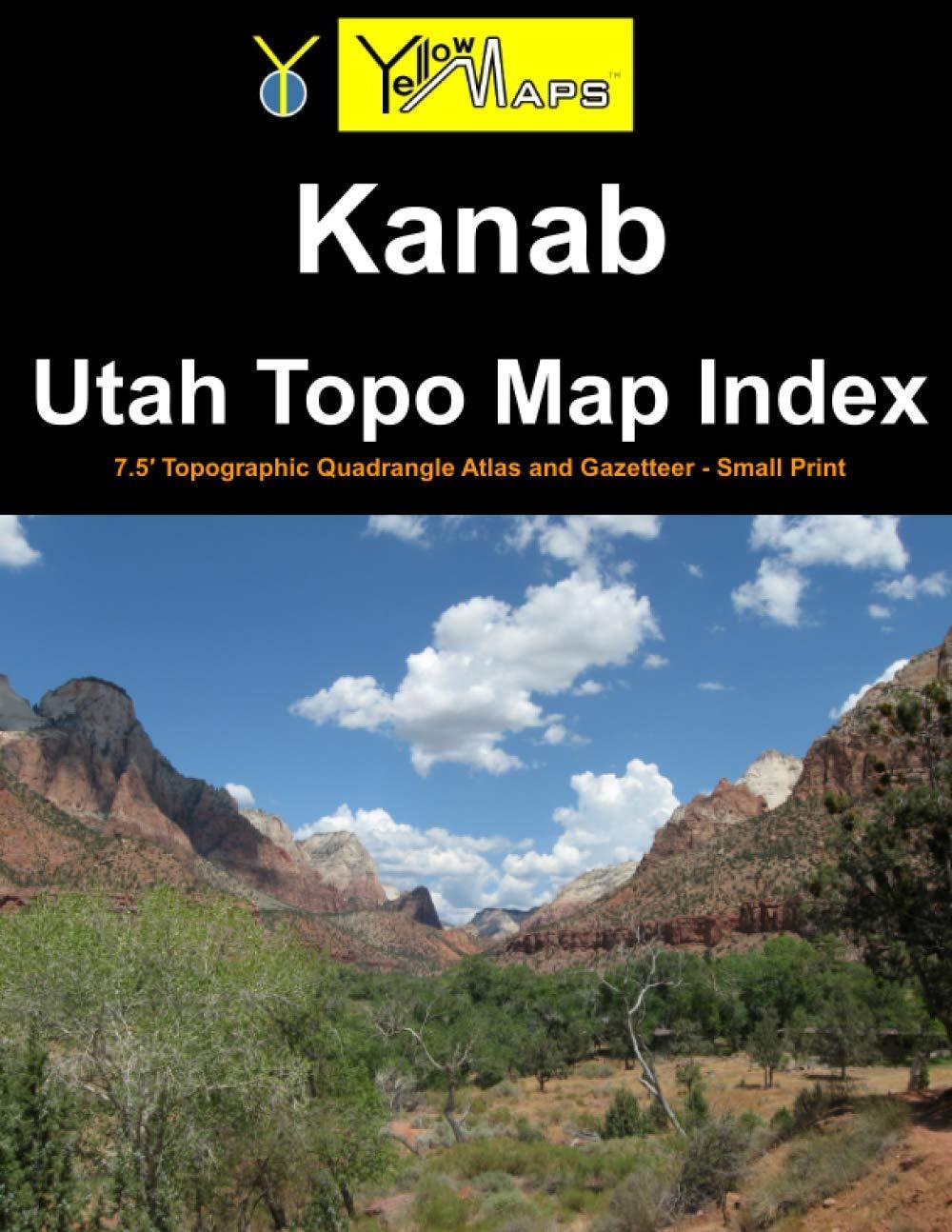 Paperback atlas: Kanab Utah Topo Map Index