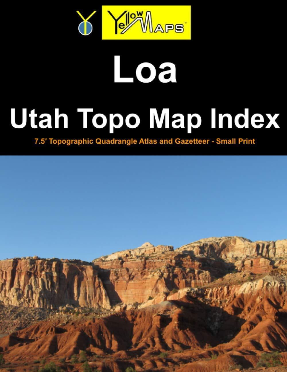 Paperback atlas: Loa Utah Topo Map Index