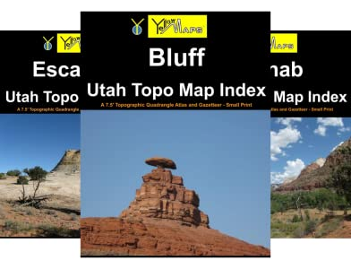 UT topo index atlases: paperback books