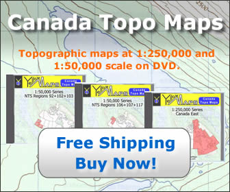Canada Topographic Maps for purchase on DVD