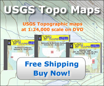 USGS Topographic Maps for purchase on DVD