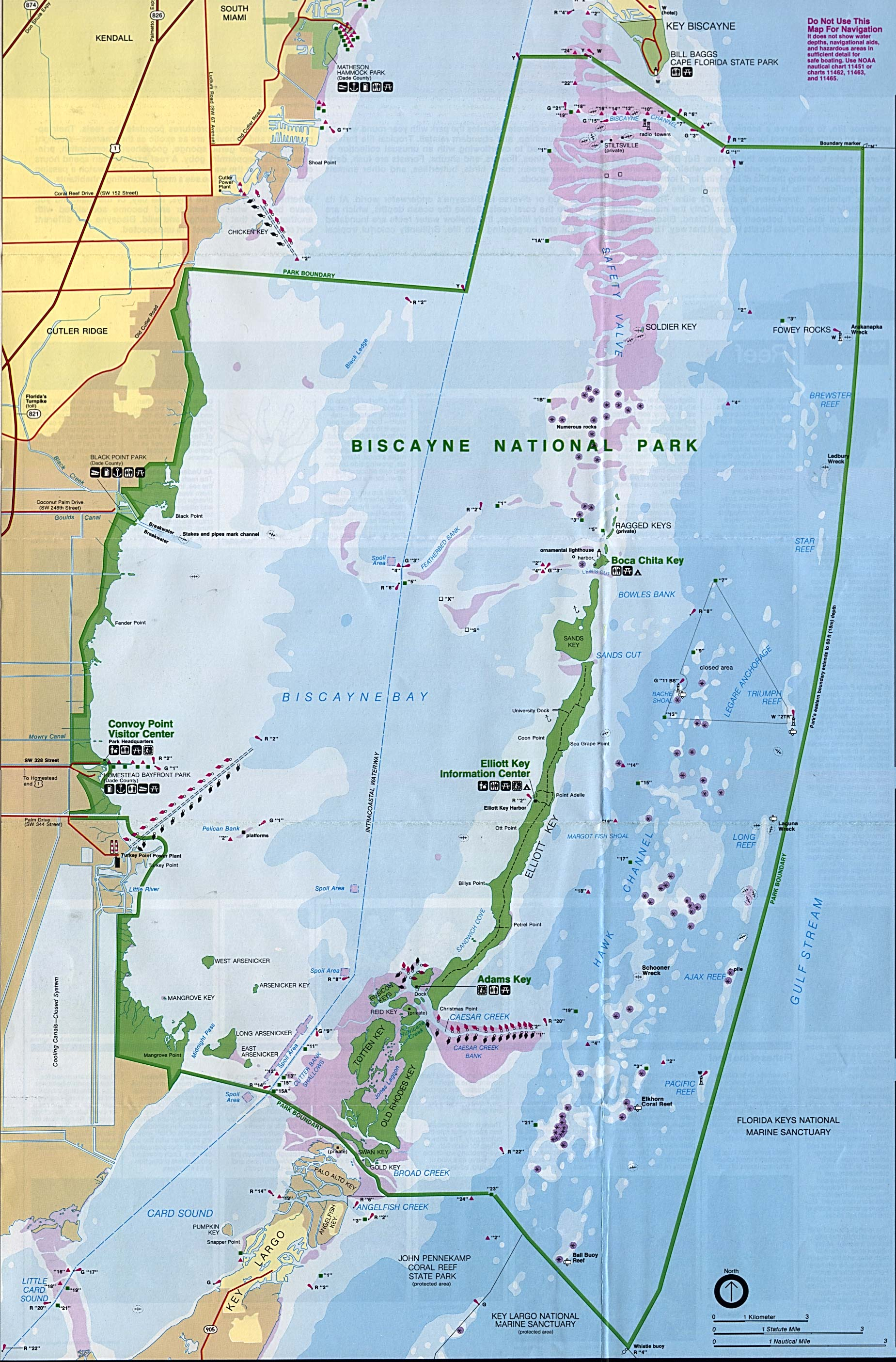 Biscayne Maps NPMapscom Just Free Maps Period Emergency - Map of us national parks poster