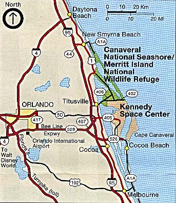florida map showing merritt island