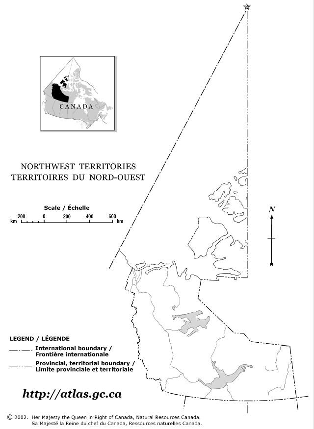 northwest territories outline map