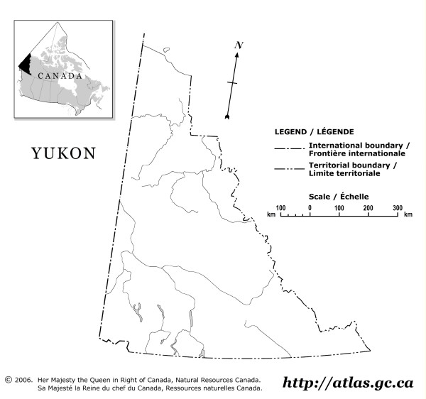 Yukon Outline Map