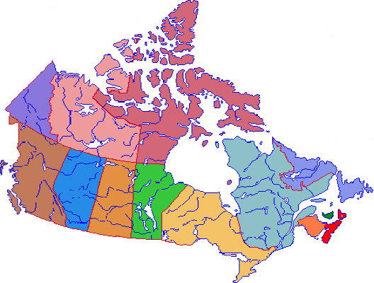 canada in map store