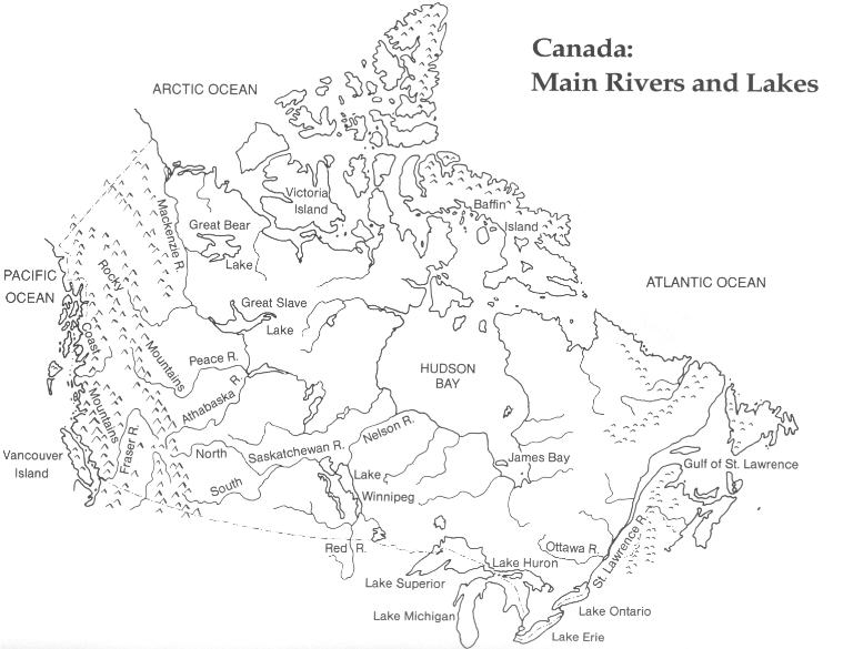 image about Printable Map of Canada titled Canada Printable Map