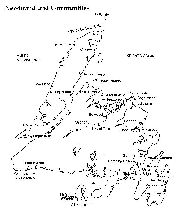 Newfoundland Printable Map - Map of newfoundland