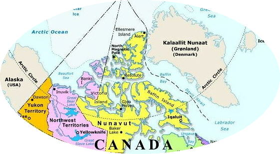 Regional Map Of Canada.Northern Canada Regional Map