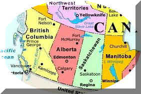 Map Of Western Canada Provinces.Western Canada Regional Map