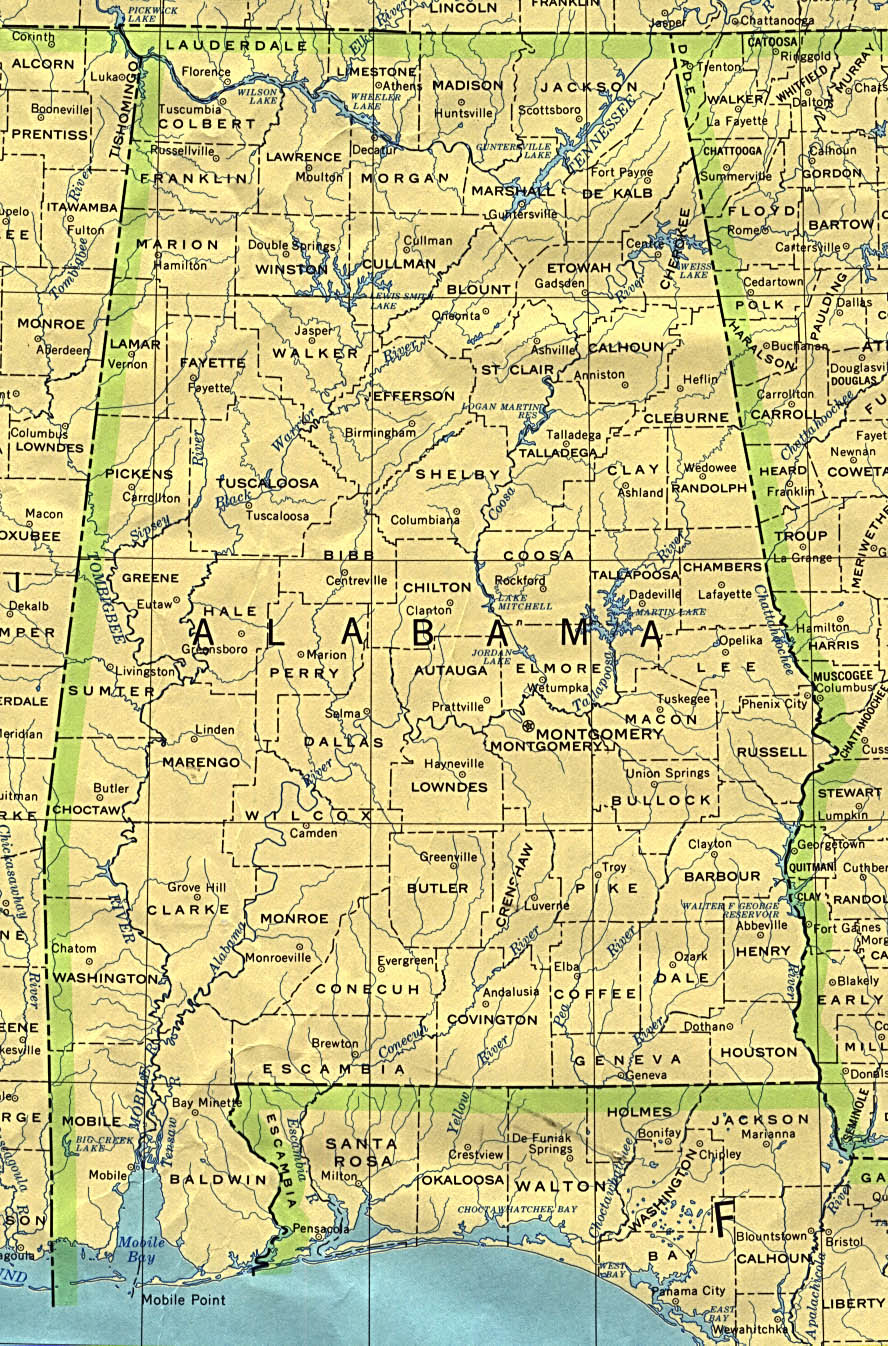 Alabama Base Map