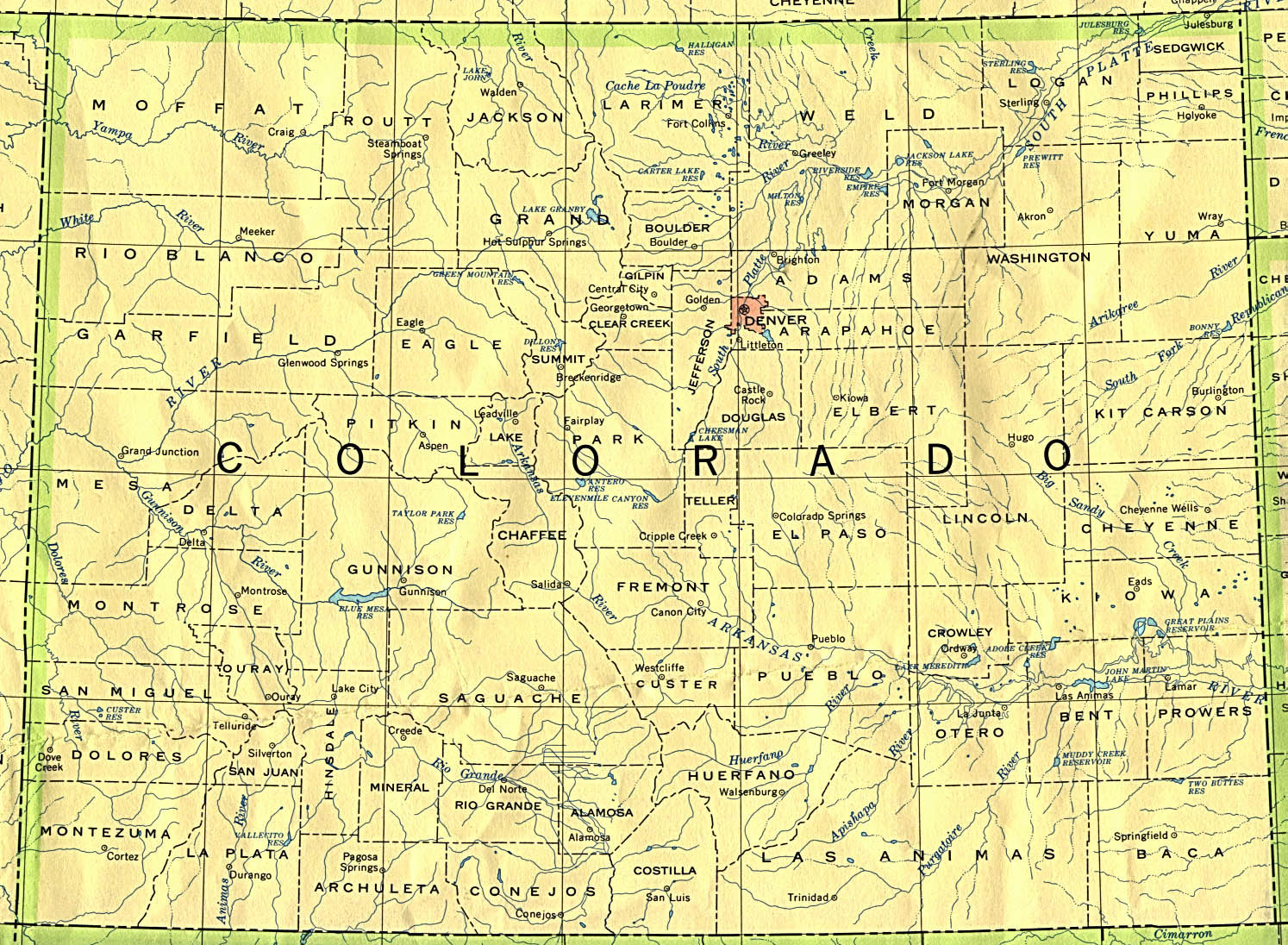 Colorado Base Map