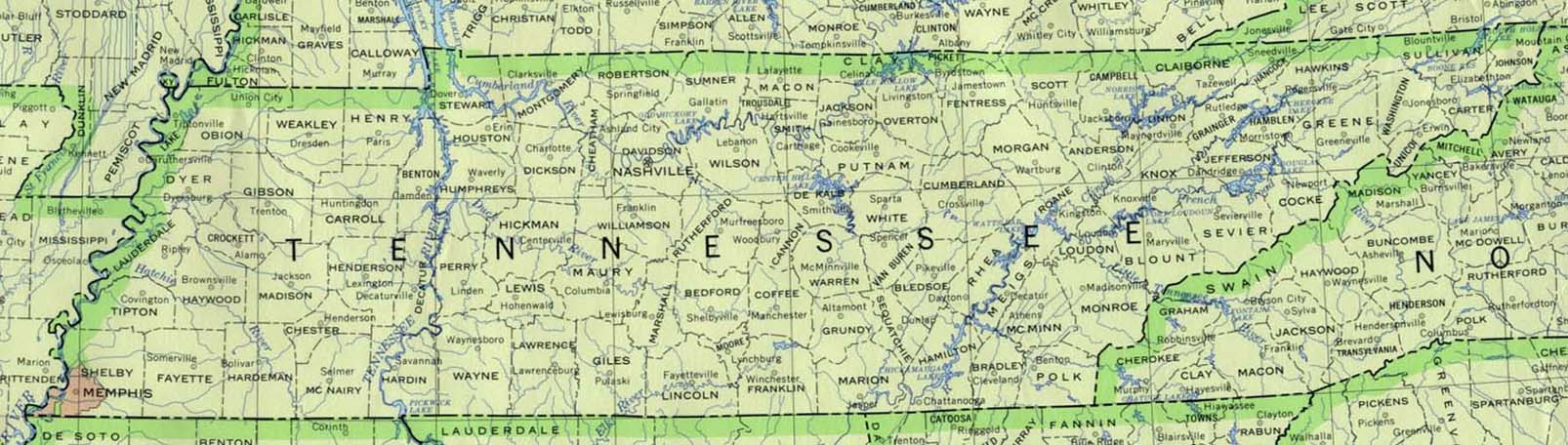 map of tennessee counties. Base Tennessee Map