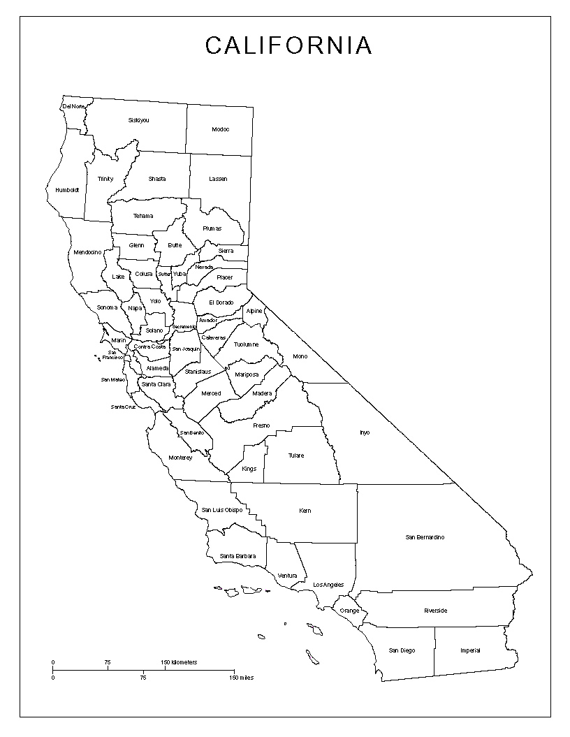 California Labeled Map