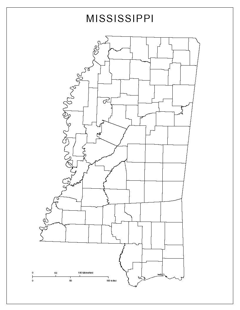 Mississippi george county - Blank County Map Of Mississippi
