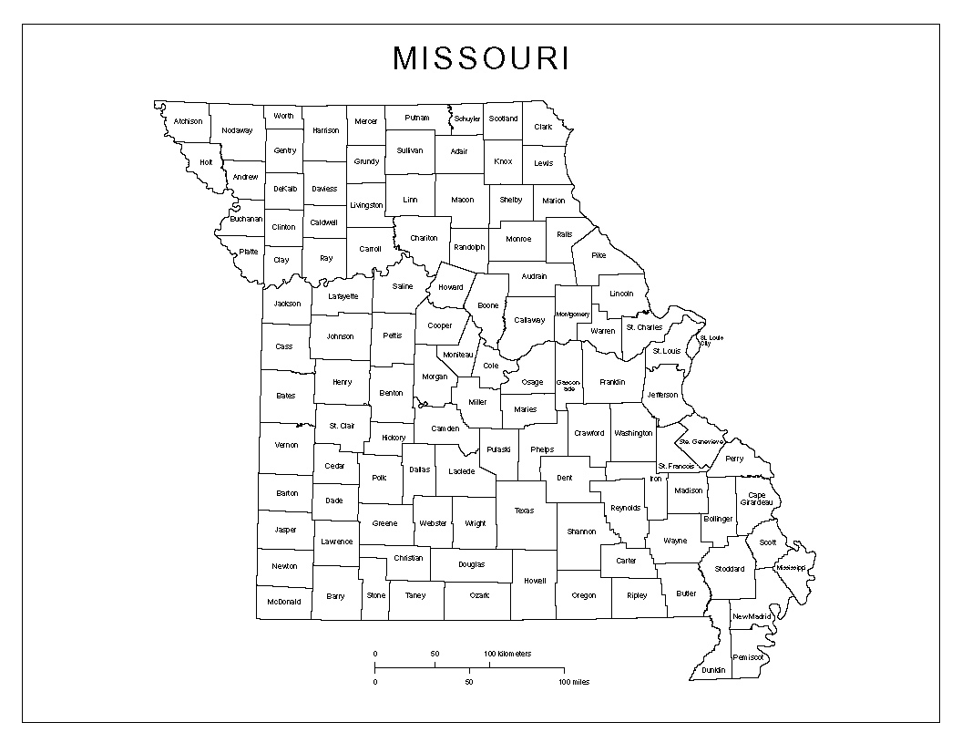 Missouri Labeled Map - Map of missouri state