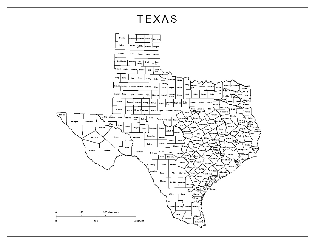 image about Printable Texas County Map identify Texas Categorized Map