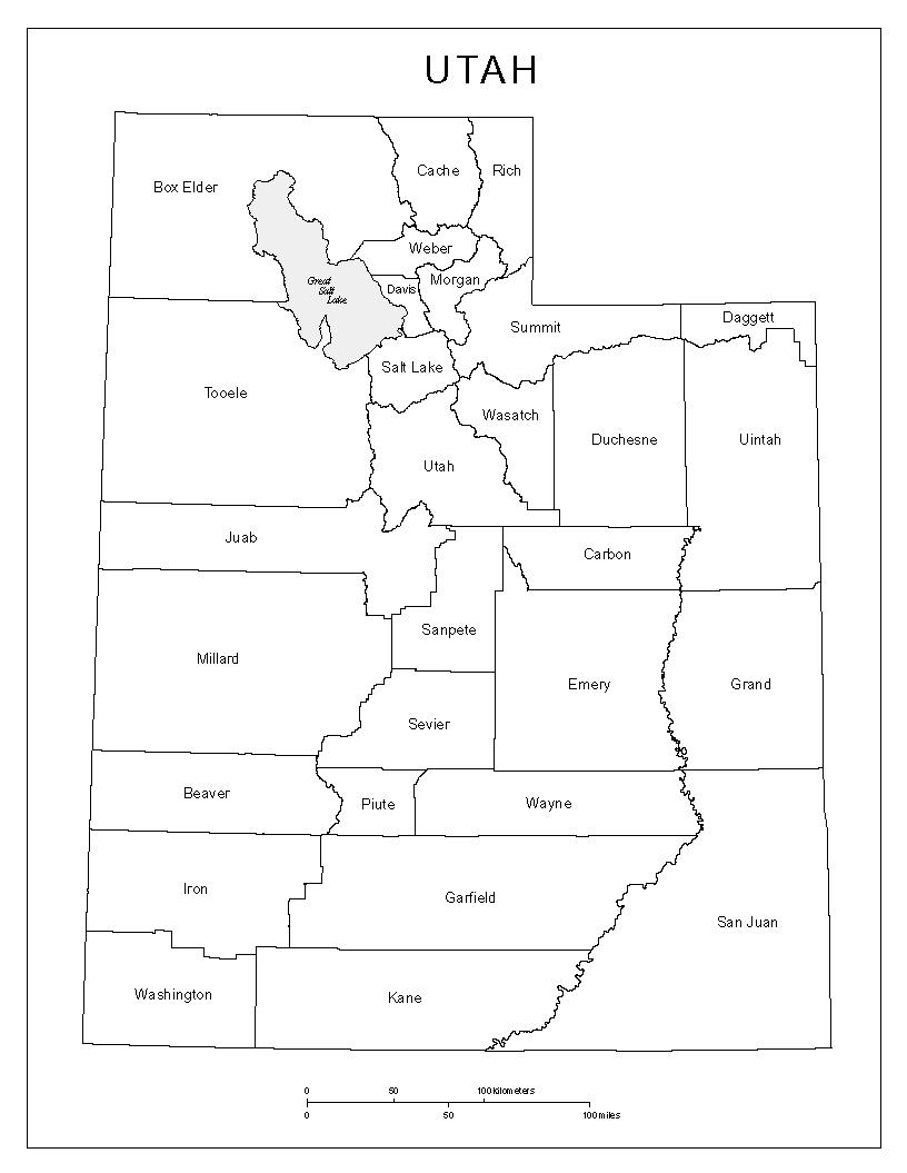 picture regarding Printable Map of Utah identified as Utah Categorized Map