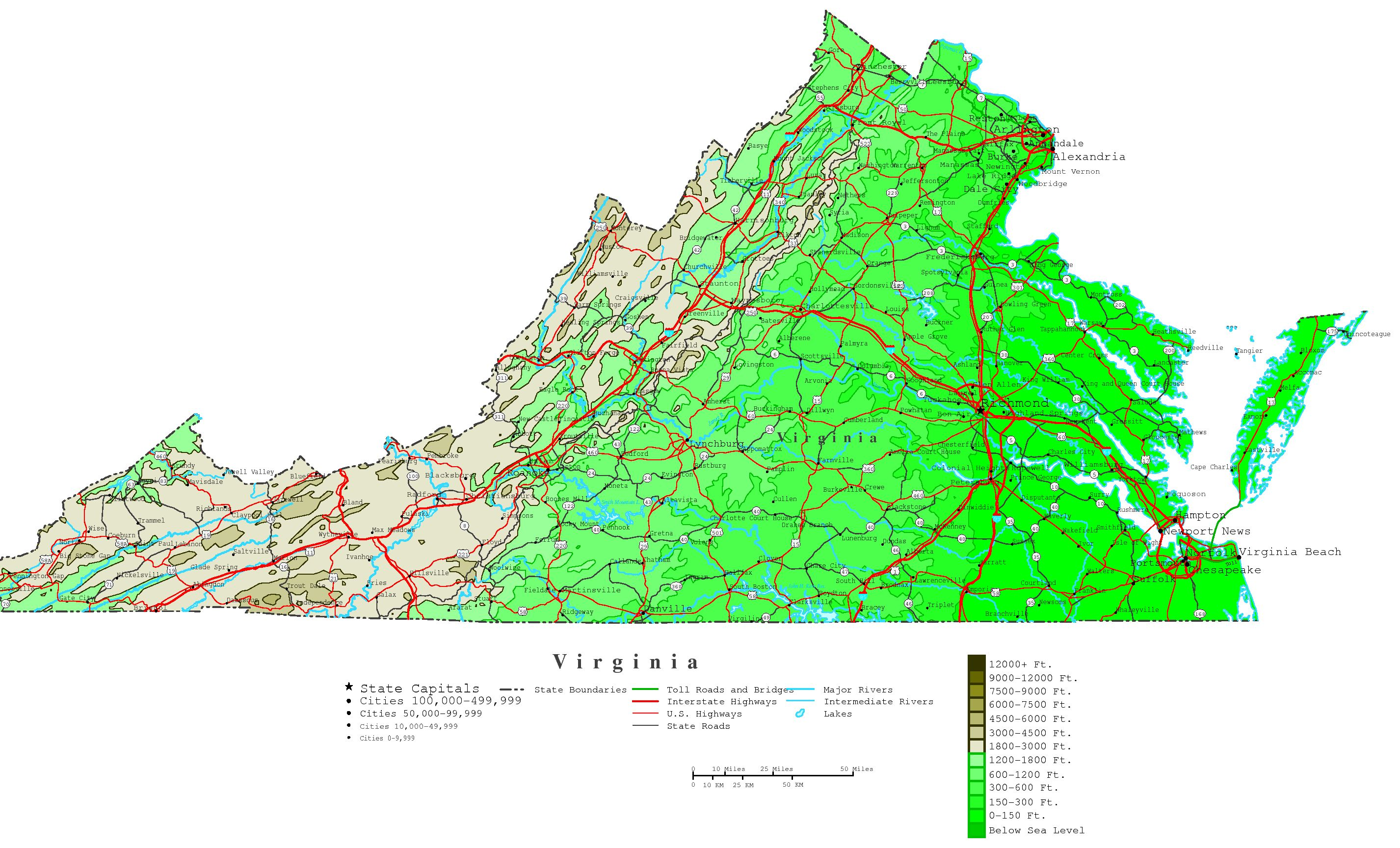 virginia state map printable bnhspinecom