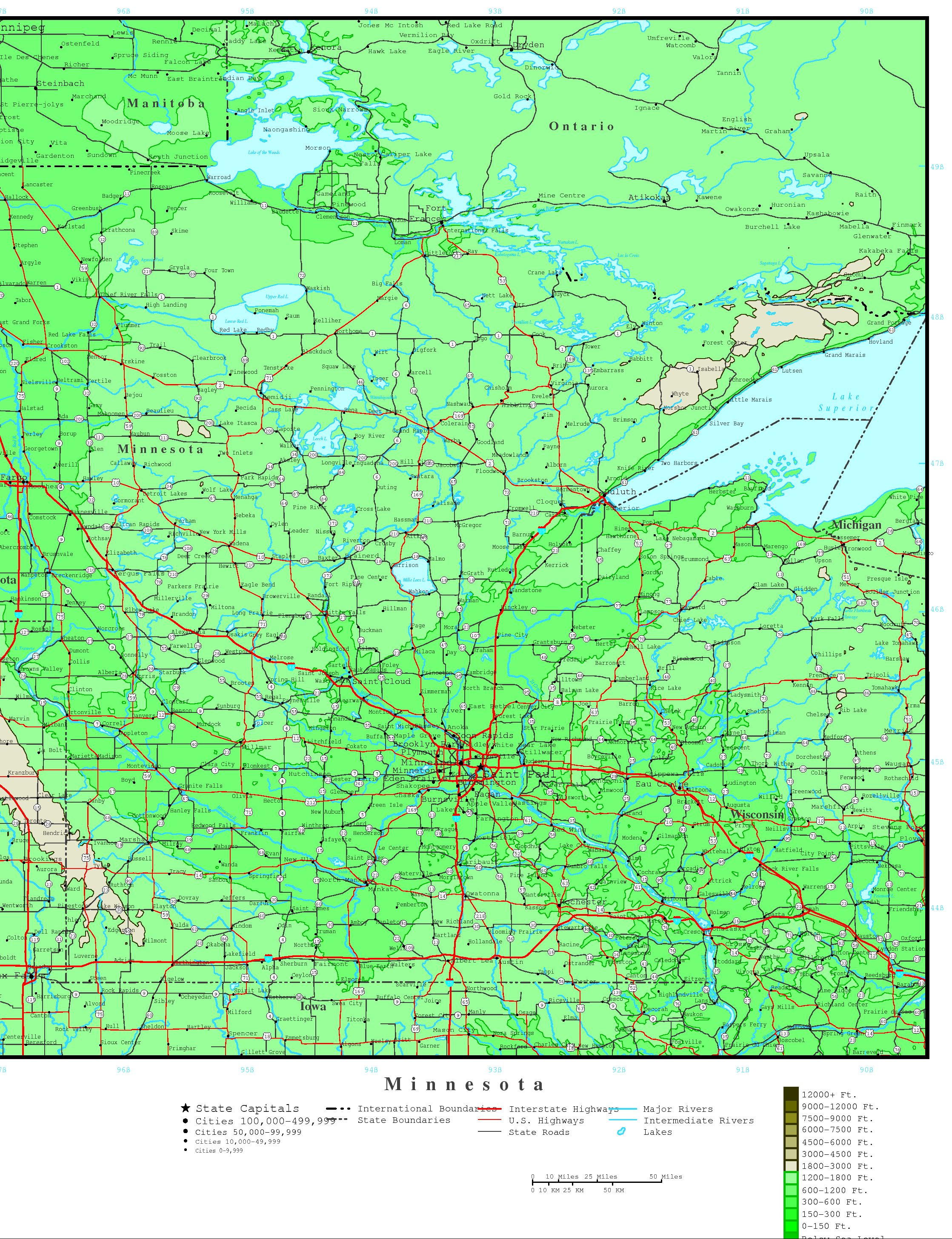 Minnesota Political Map - Political map of minnesota