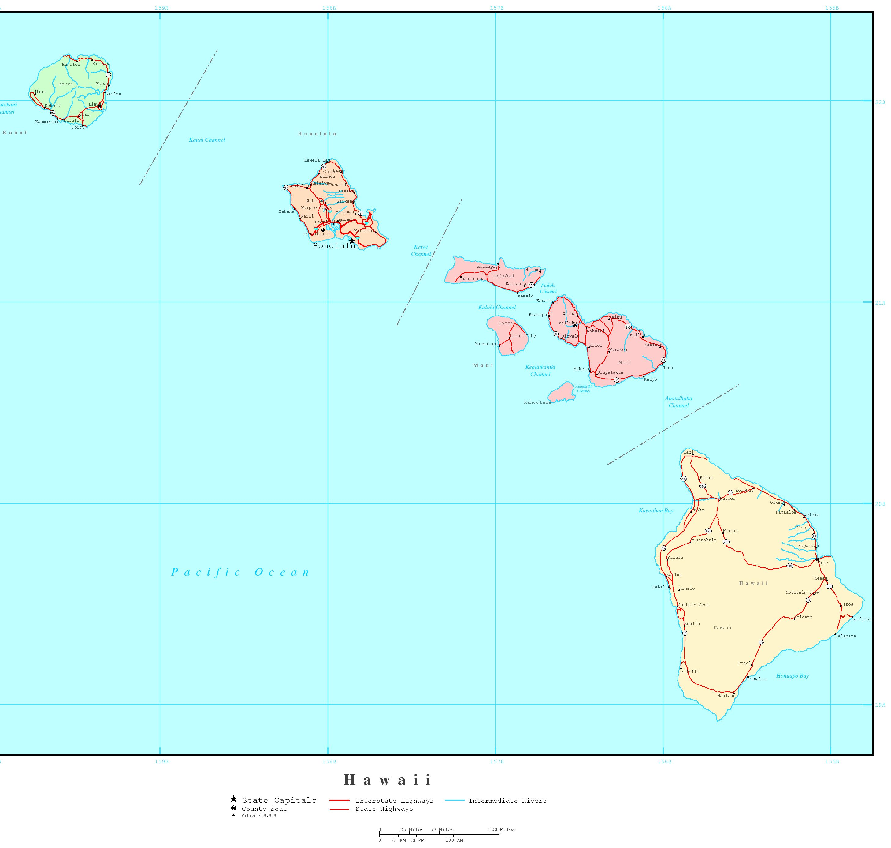 Hawaii Political Map