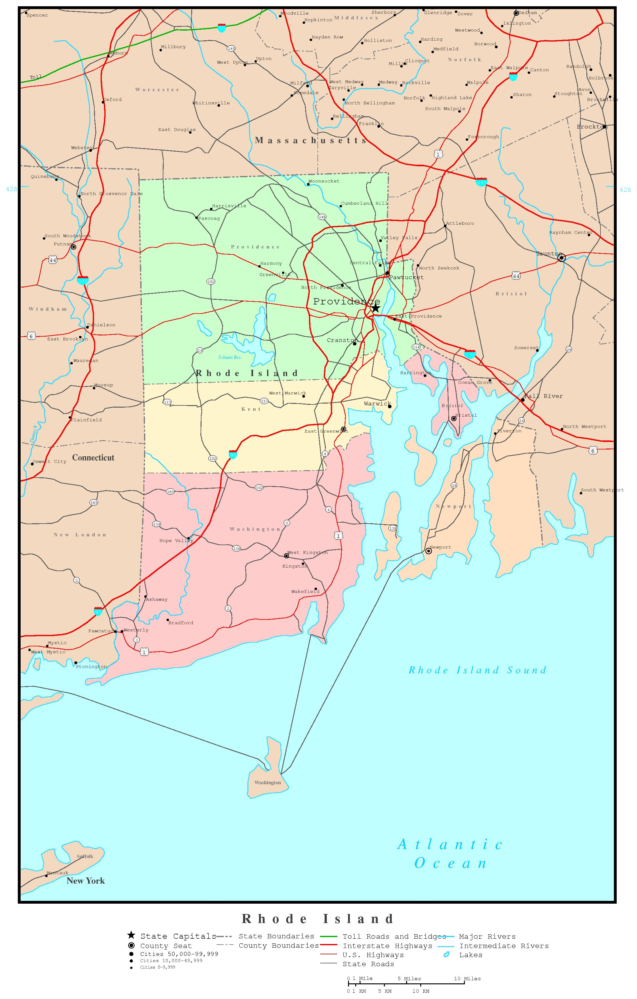 Rhode Island Political Map