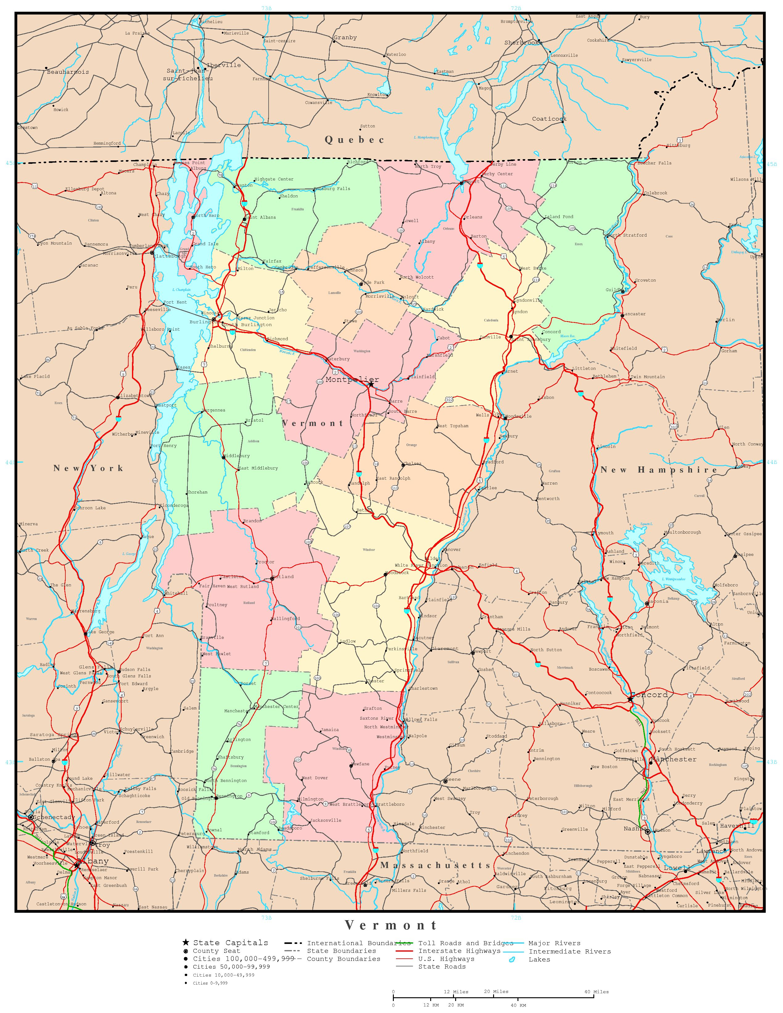 vermont state map with cities – bnhspine.com
