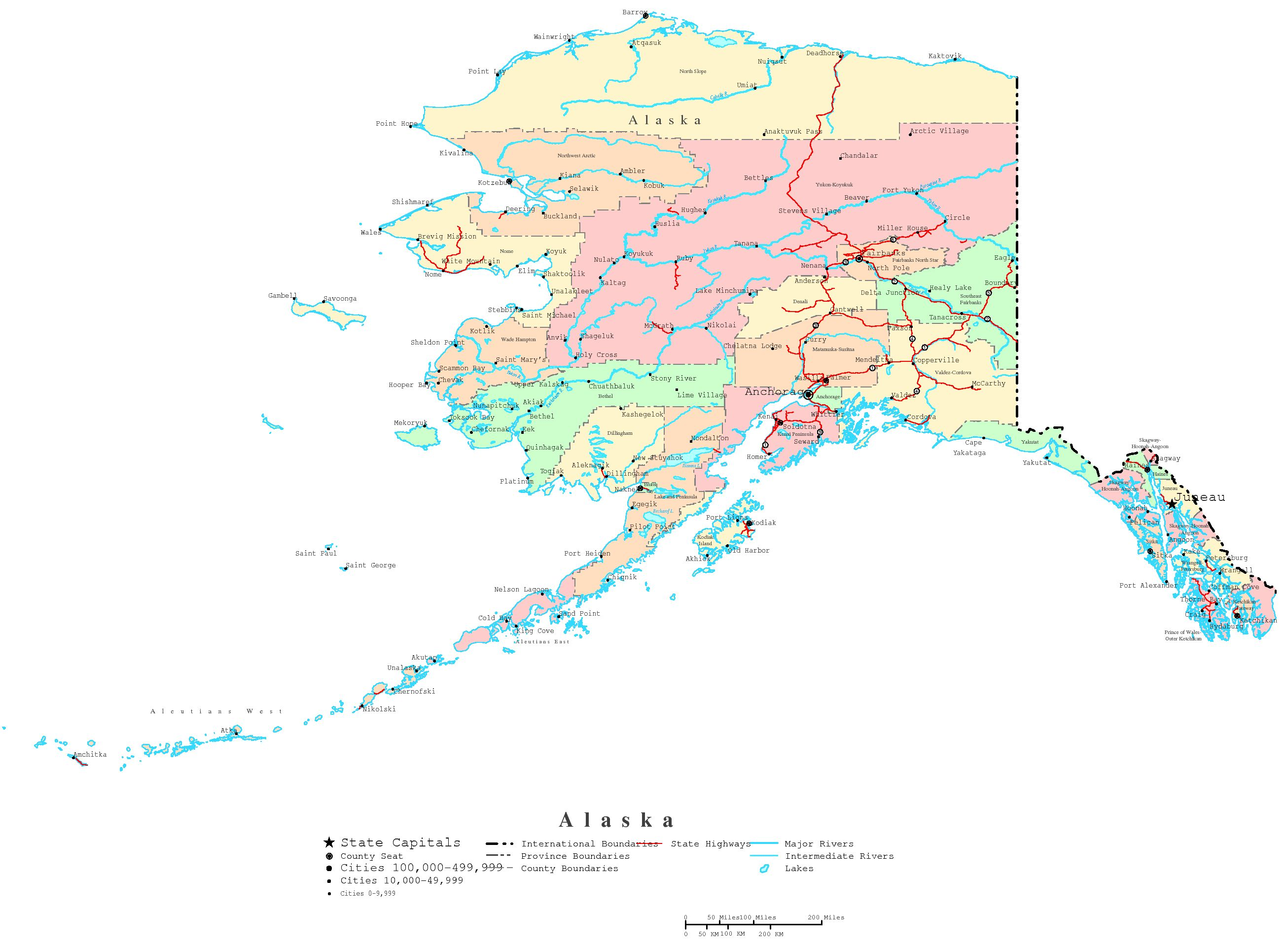 image regarding Printable Maps of Alaska called Alaska Printable Map