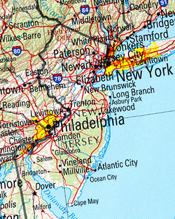 Reference new jersey map