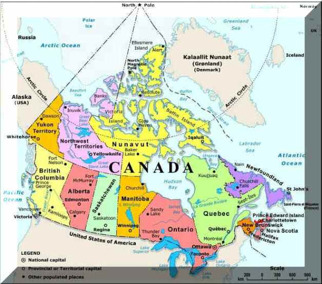 Canada Map Online Maps Of Canada Country - Canada map major cities