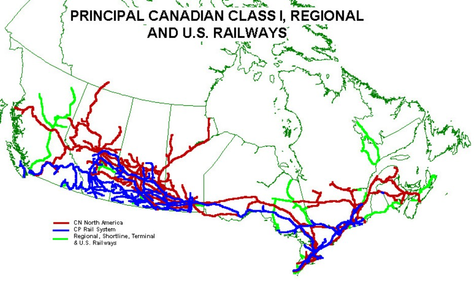 thematic map of Canada provinces, CAN transportation map