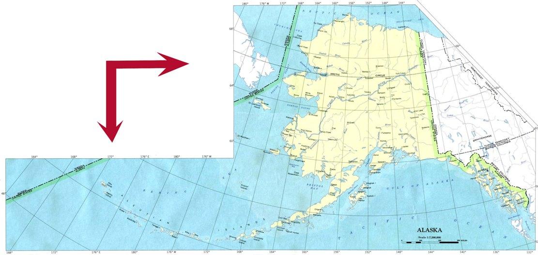 base map of Alaska state, AK reference map