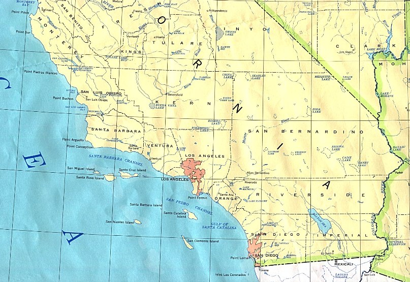 Southern California Base Map - California-on-the-us-map
