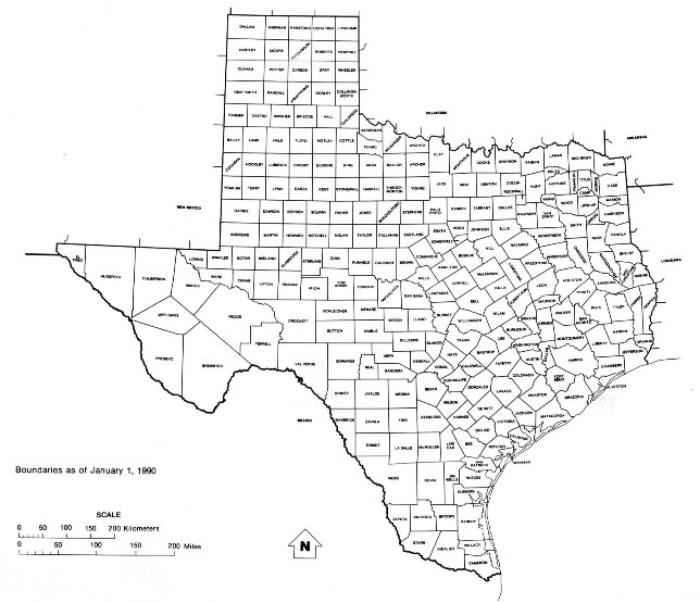 free map of Texas state, TX outline map