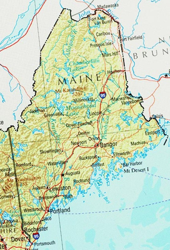 Maine Map Online Maps Of Maine State