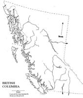 Blank outline Map of BC Province