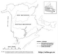 New Brunswick Blank Map